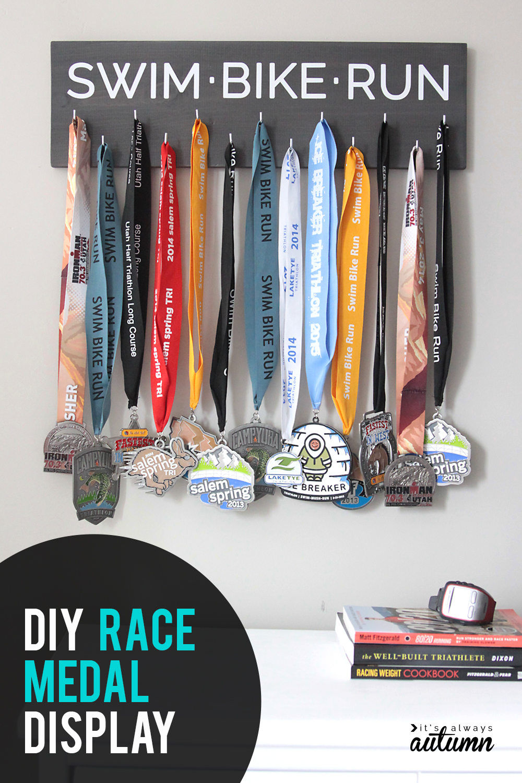 Easy Diy Race Medal Holder Display It S Always Autumn