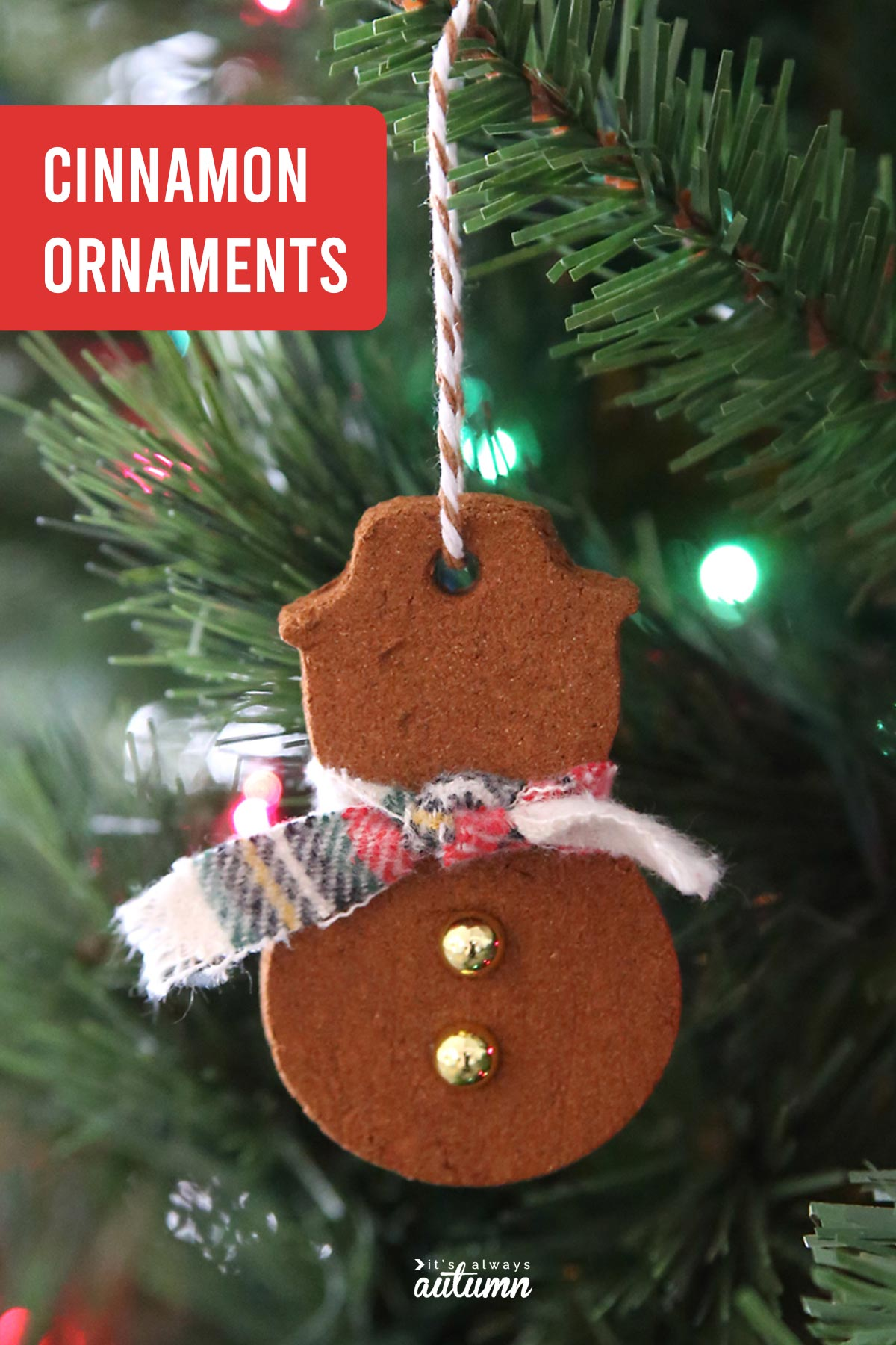 Homemade Cinnamon Ornaments Only 2 Ingredients It S Always Autumn
