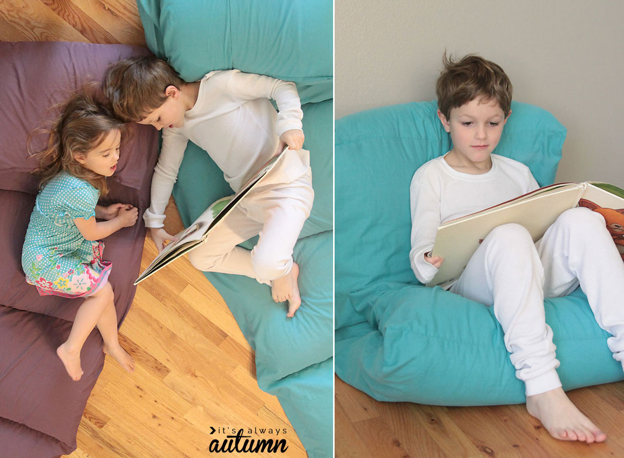 The Cheap Easy Way To Make A Kids Pillow Bed It S Always Autumn