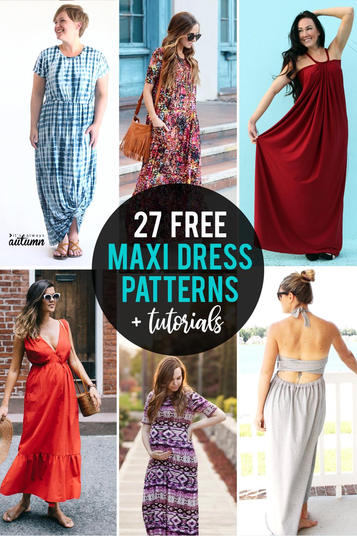 The Best Free Maxi Dress Patterns And Tutorials It S Always Autumn