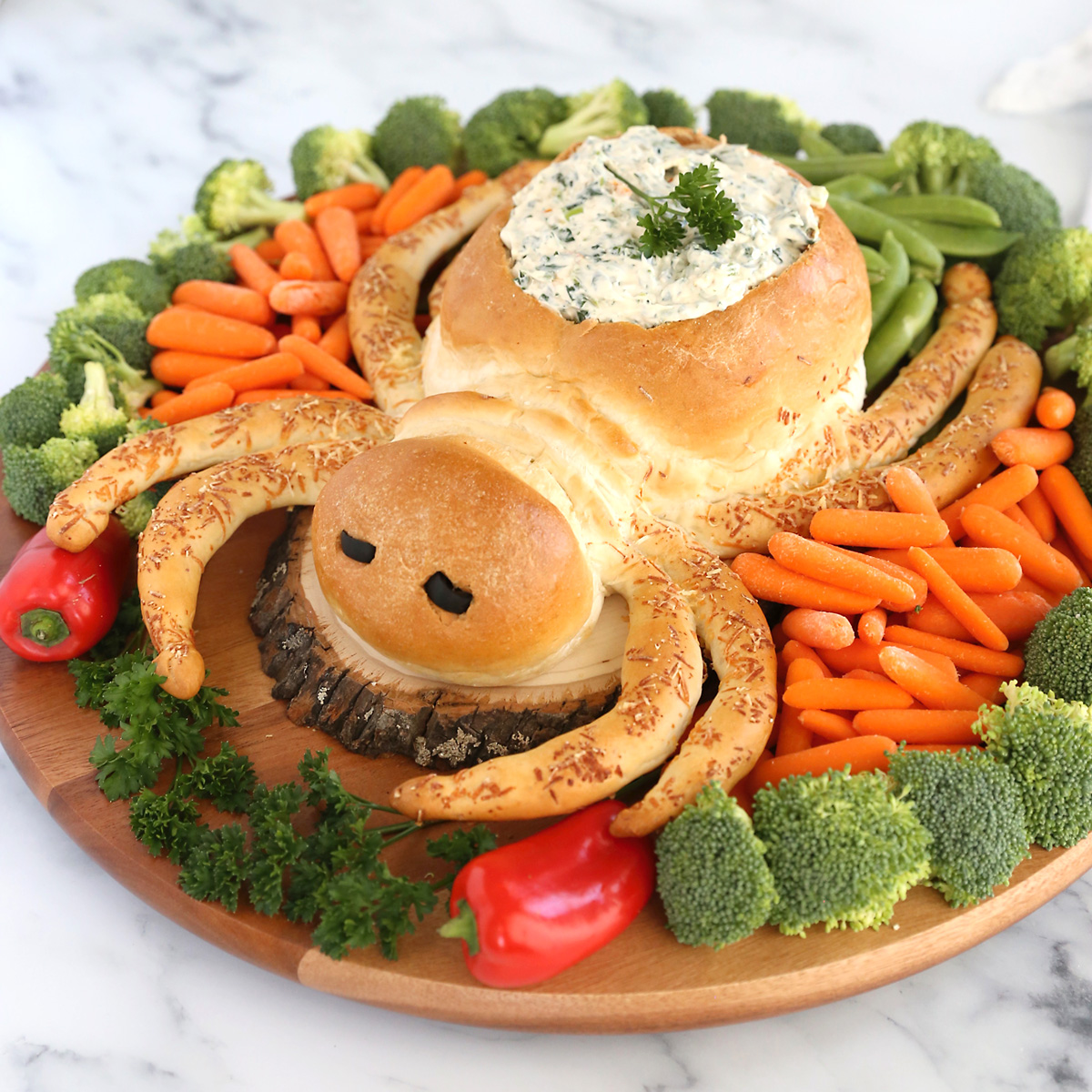 Spider Bread Dip Bowl Fun Halloween Appetizer Idea It S Always Autumn