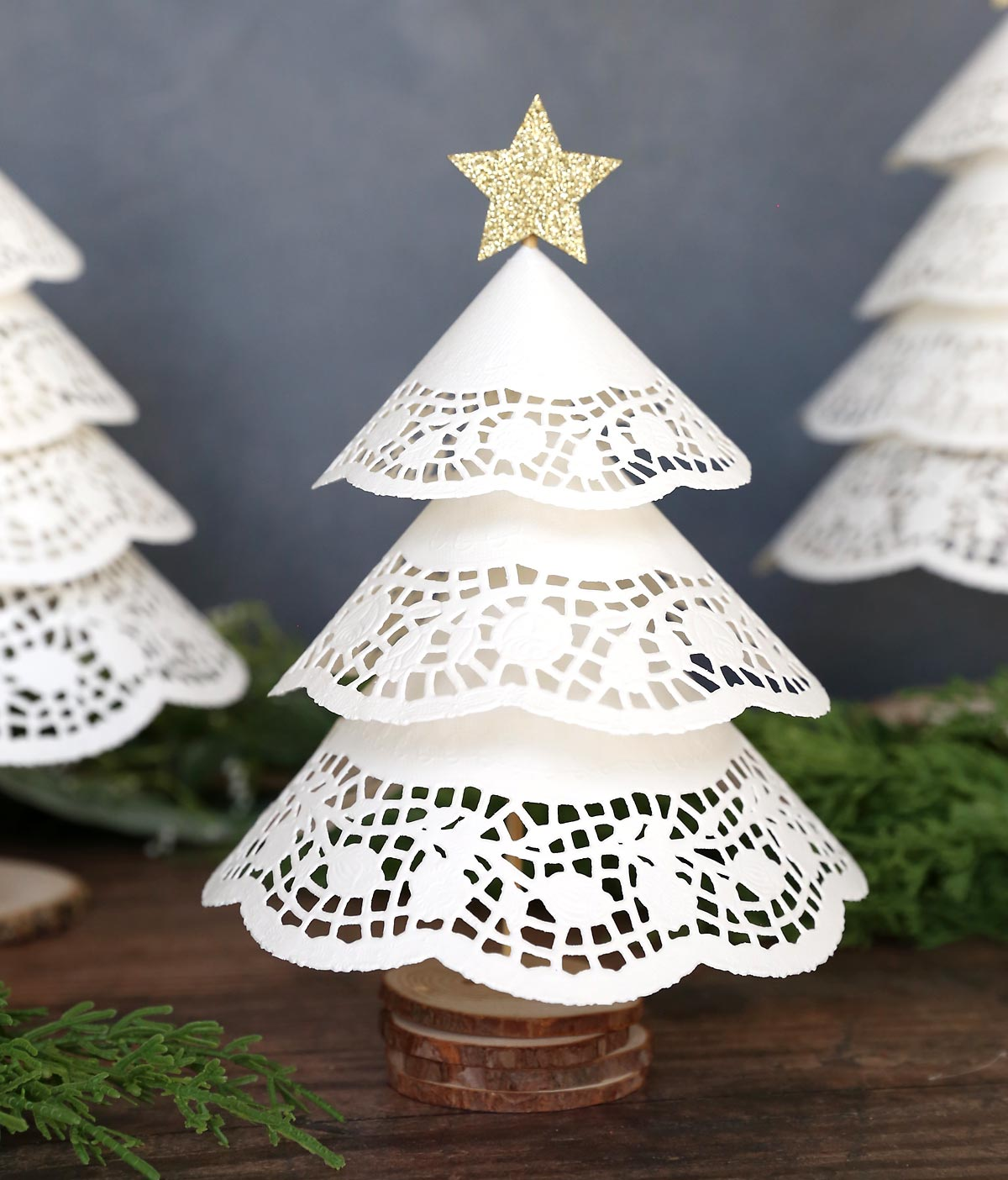 Make Paper Doily Christmas Trees W Dollar Store Supplies It S Always Autumn